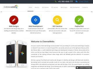 Web Designing Company in Chennai - Chennai Webs