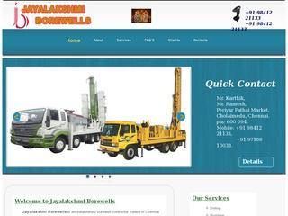 Jayalakshmi Borewells | Borewell services in Chennai