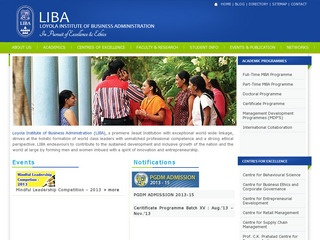 Loyola Institue of  Business Administration (LIBA)