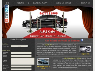 AUDI /BMW/BENZ/JAGUAR  Cars Rental Hire in Chennai – A.P.J CABS (91- 96 77 111 999)
