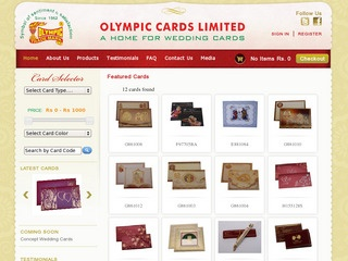 Olympic Wedding Cards