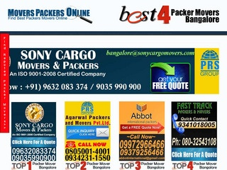 Rapid along with Reliable Packers and Movers Bangalore